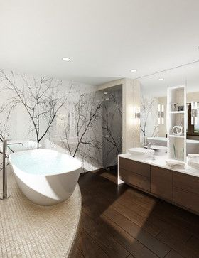False Creek Penthouse - modern - bathroom - vancouver - Utanagel Design