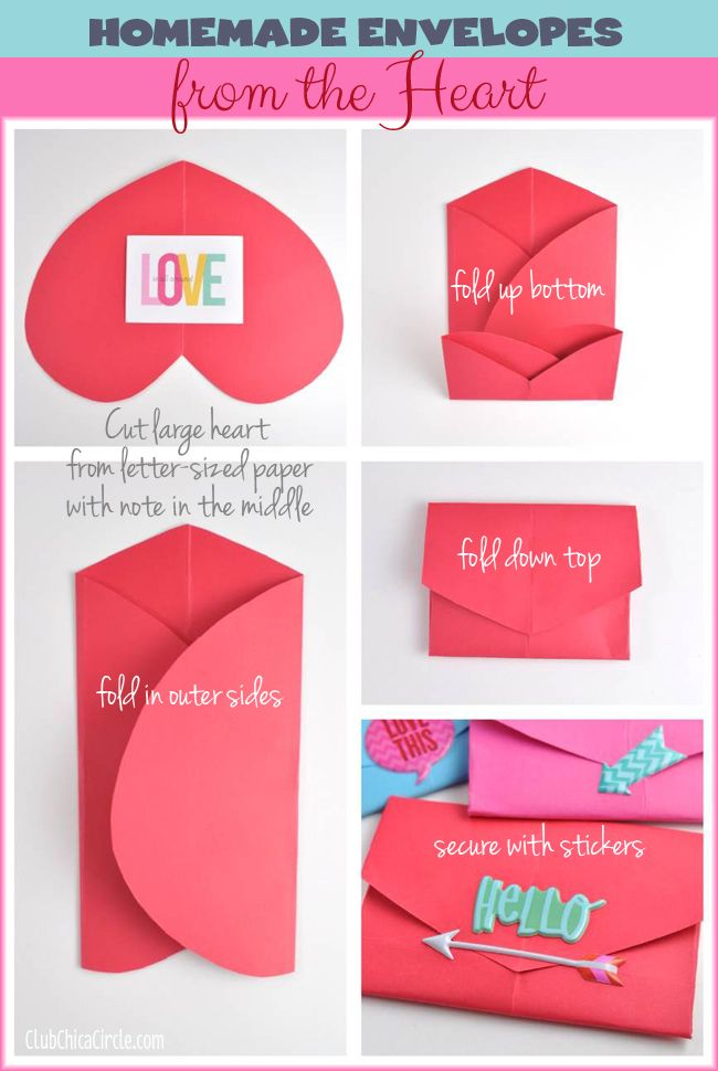 Easy homemade paper envelope DIY: Homemade Envelopes, Crafts Ideas, Heart Envelopes, Homemade Paper, Heart Shape, Paper Heart, Paper Envelopes, Envelopes Diy, Diy Envelopes Paper