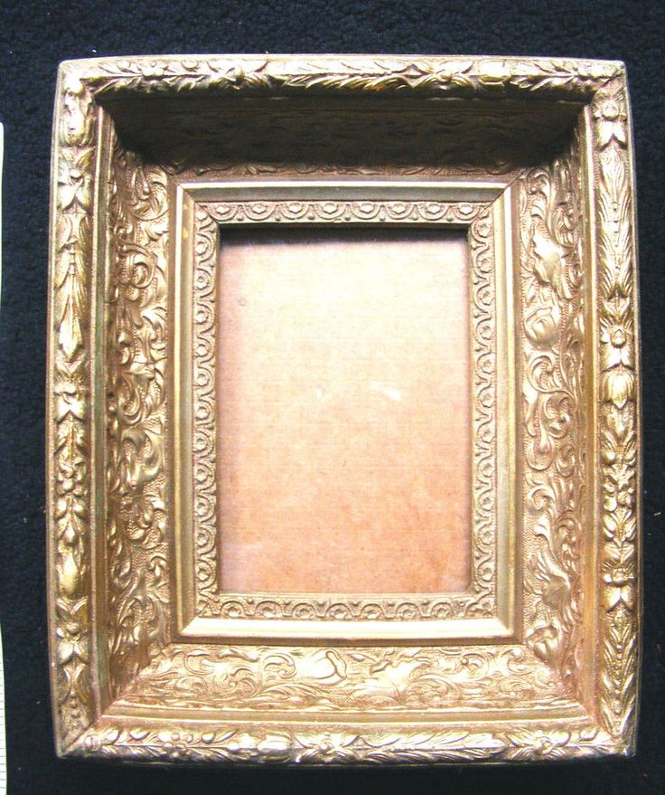 Antique Picture Frame Molded Plaster Gold Gilt Finish
