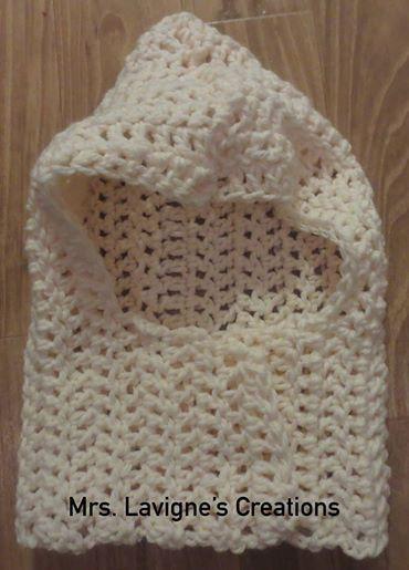 Mejores 7 imágenes de Crocheted Hooded Cowl / Cuello capucha ...