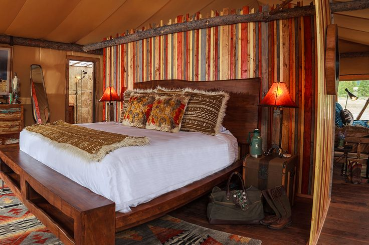 Montana glamping is at its finest at North Bank Camp - our newest and most luxurious glamping experience featuring luxury tents with ensuite bathrooms.