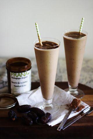 healthy nutella milkshake