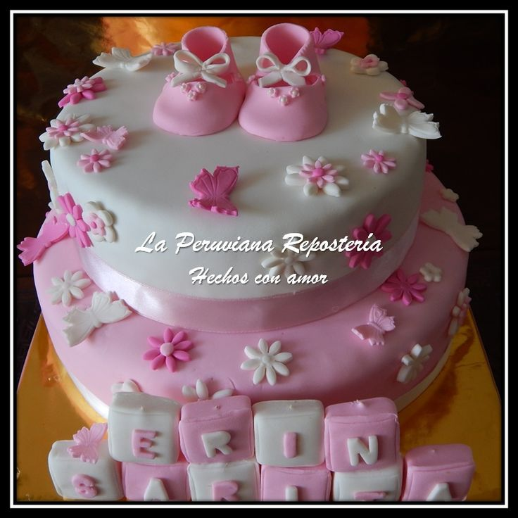 Torta para baby shower ni a tortas decoradas pinterest - Ideas para baby shower nina ...