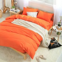 Fashion Solid Cotton bedding set for single/double bed,(Flat bedsheet/Mattress cover+Duvet cover+Pillowcase)3pc/4pc/5pc sets(China (Mainland))