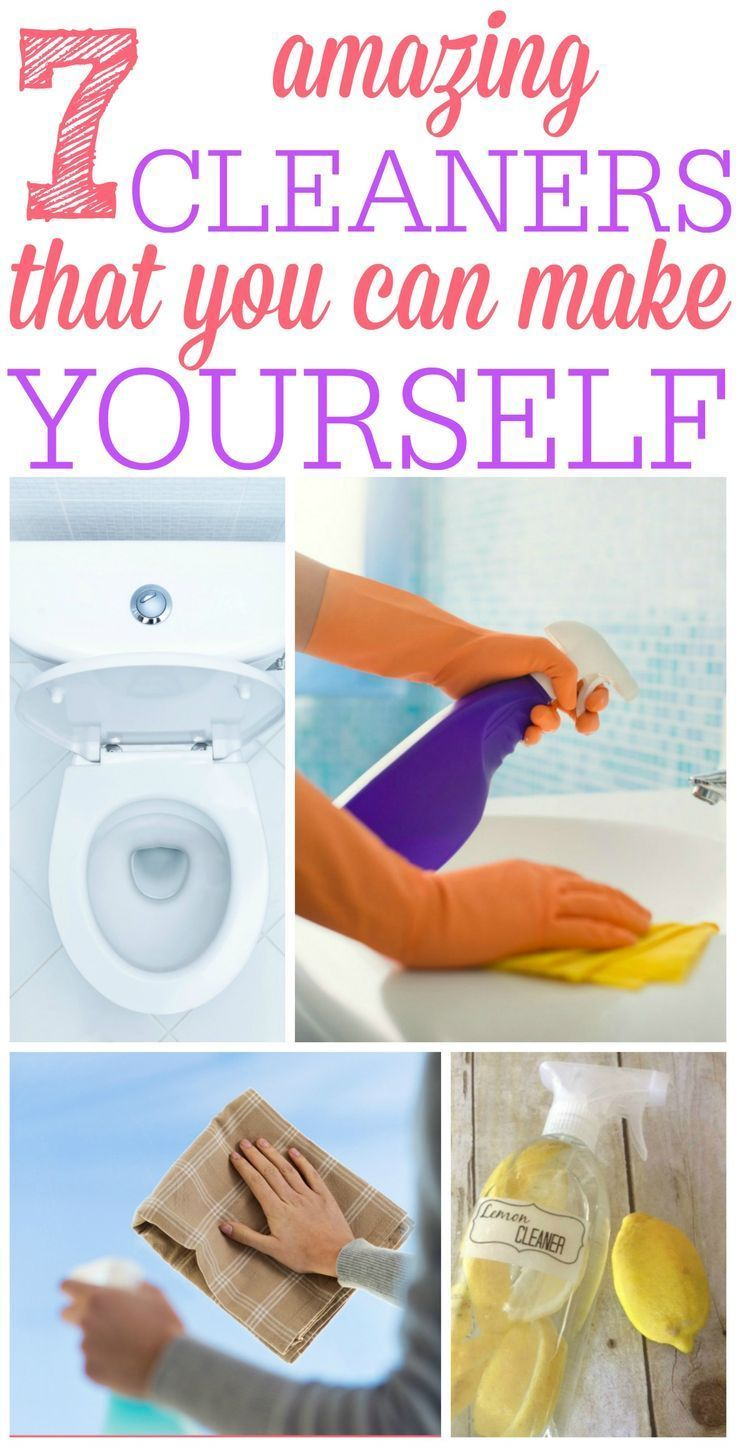 7 Cleaners You Can Make Yourself Cleaning Hacks Cleaners Homemade House Cleaning Tips