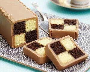 ✅ (w) Chocolate battenberg cake