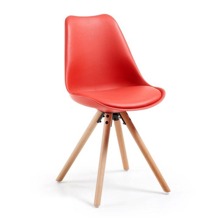 Nowoczesne krzesło w skandynawskim stylu. Proste krzesło do jadalni.