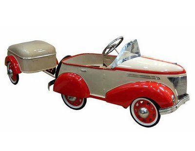 The Ultimate Pedal Car American Art Deco   USA    circa 1935 This American Art Deco steel pedal car dates from the 1930's, is painted in sal...
