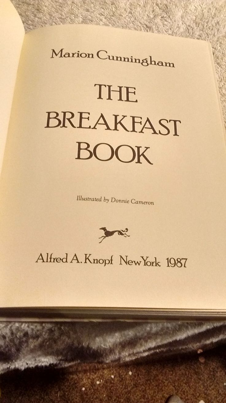 The Breakfast Book , cookbook by Alfred A Knopf c 1987 Original book by Artisticflea on Etsy
