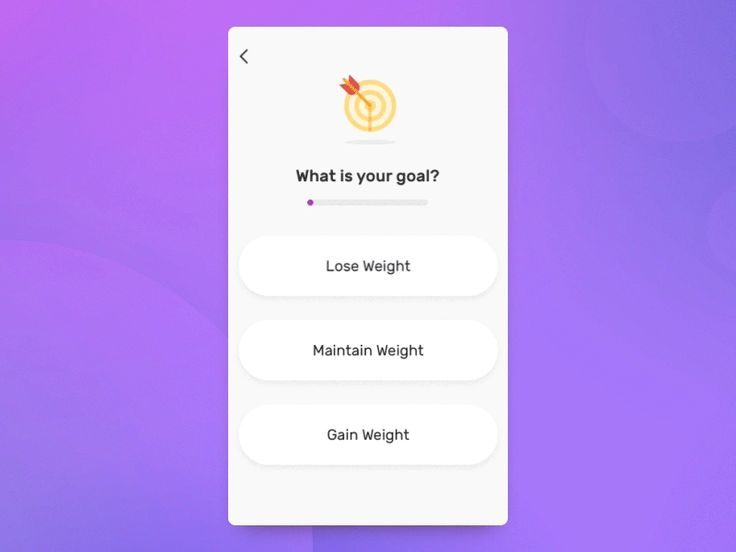 Fitness app onboarding - UI Movement