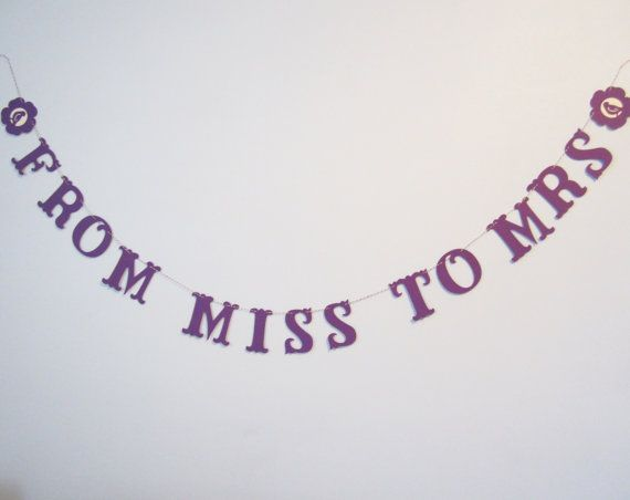From Miss to Mrs  Purple Bridal Shower Wedding by JessMadeThis, $12.00