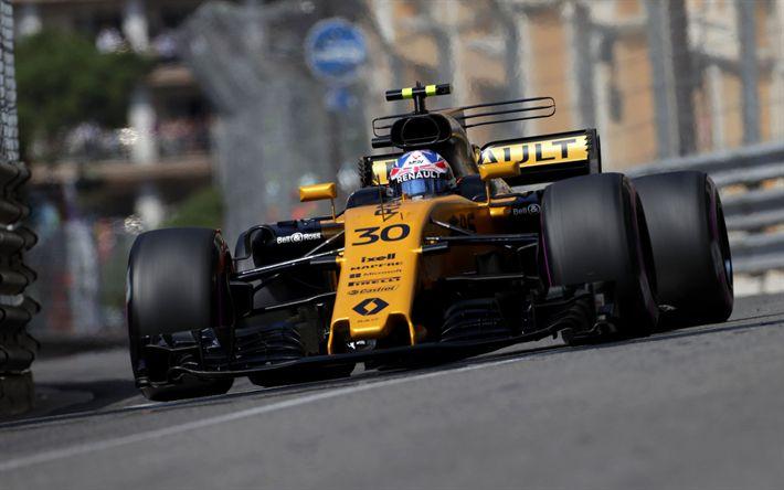 Télécharger fonds d'écran Jolyon Palmer, 4k, pilotes de course, 2017 voitures, Renault RS17, Formule 1, F1, Renault Sport F1 Team