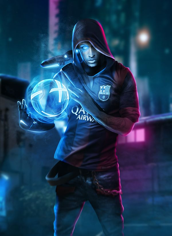 Cyber Street Football - Neymar by Bosslogix.deviantart.com on @DeviantArt