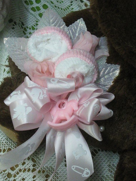 Baby Sock Corsage Baby Shower Corsage Baby Sock Roses