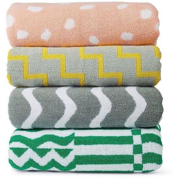 Ellen Van Dusen Dusen Dusen Towel found on Polyvore featuring home, bed & bath, bath, bath towels and jacquard bath towels