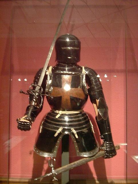Black Mercenary Armour in the Kelvingrove Art Gallery & Museum. #Armor