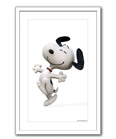 Loving this Peanuts Snoopy Happy Dance Framed Giclée Print on #zulily! #zulilyfinds