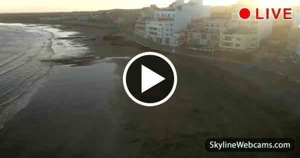 Splendid view over El Médano Beach and promenade