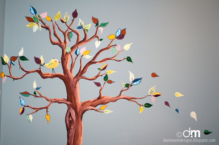 limefish studio: Show & Tell: Baby D's Nursery Tree Mural