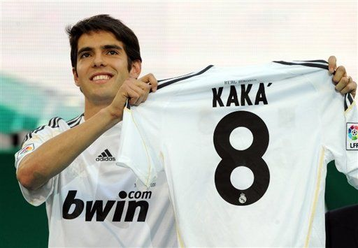 Ricardo Kaka. Unashamed of his faith, and a beast of a soccer player. He's got my jersey number(;