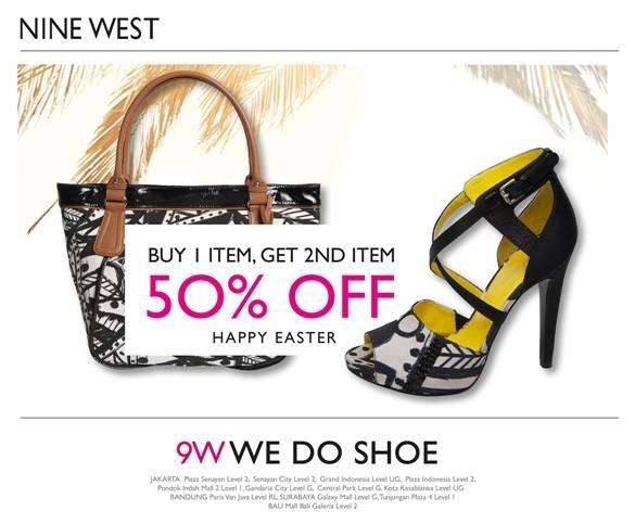 Nine West is having a buy 1 get 2nd item 50% off promo!