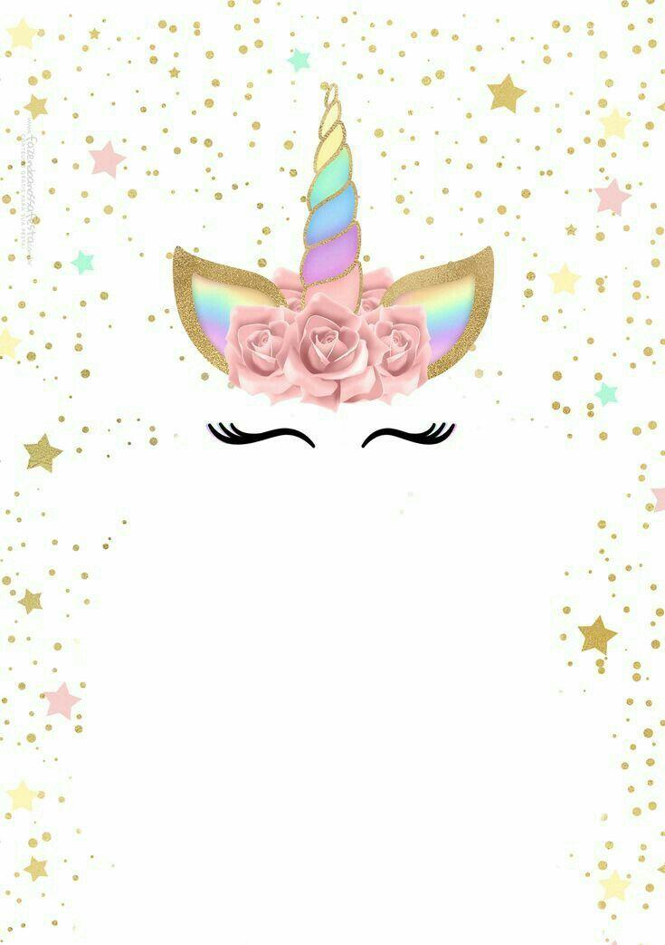 Resultado De Imagen Para Tarjetas Invitacion Unicornio