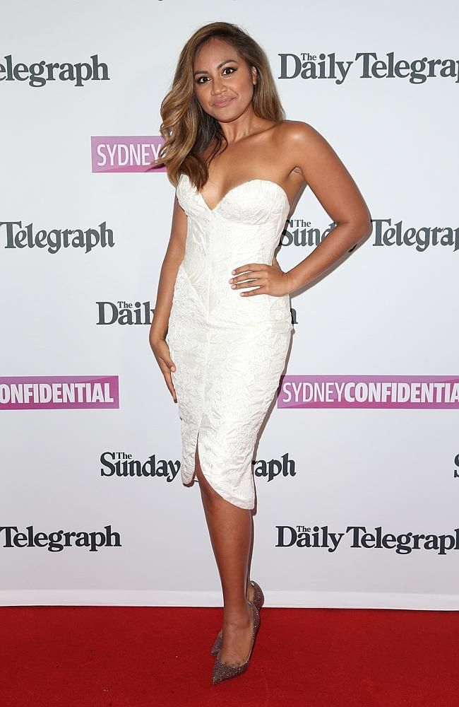 Jessica Mauboy looks stunning in this fun, flirty Steven Khalil number.