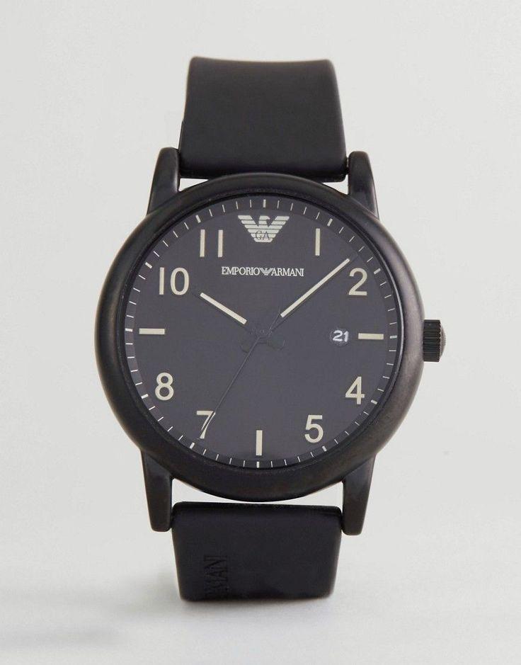 EMPORIO ARMANI AR11071 WATCH IN BLACK - BLACK. #emporioarmani #