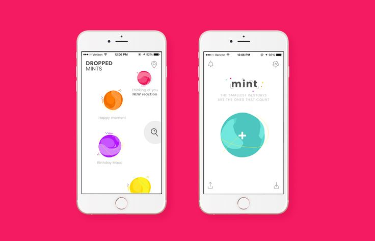 Mint, iPhone App on Behance
