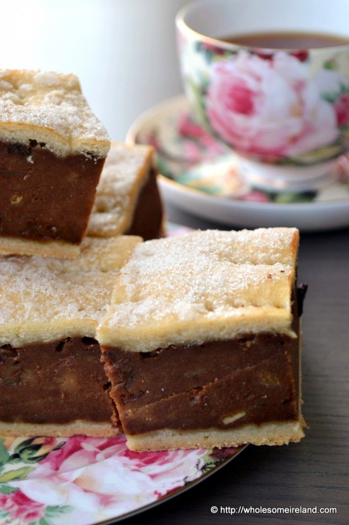 Irish Gur Cake- shortbread layers with tea cake in between! Great with a cup of hot tea on a cold day!