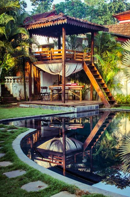 The pool tower at Siolim House, a truly boutique hotel in north Goa. Beautifully shot by Matthew Parker.