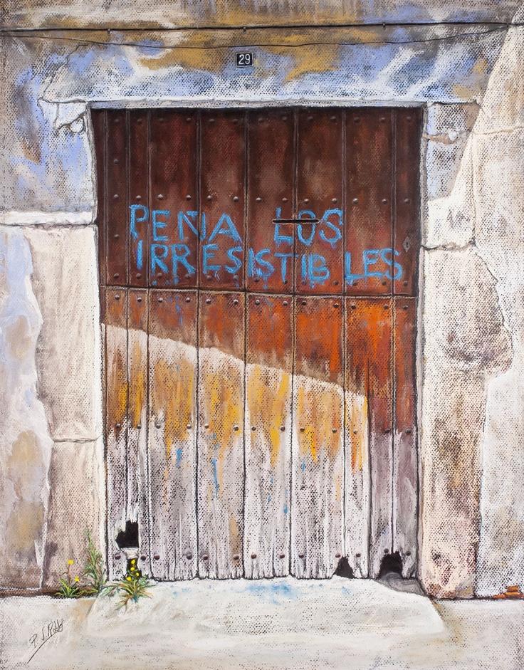 """Pilar S. Robles. """"Los Irresistibles"""" dejaron su firma (Provincia de Lleida). Pastel. 76x61."""