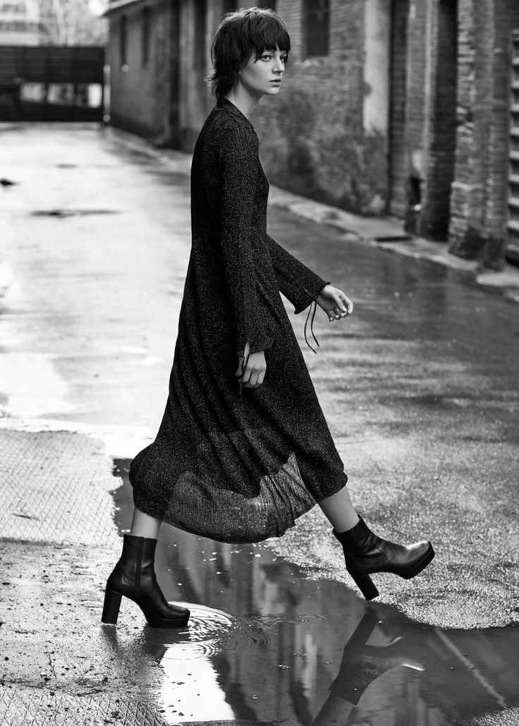 Кожаные ботинки на платформе -  Женская | MANGO МАНГО Россия (Российская Федерация)