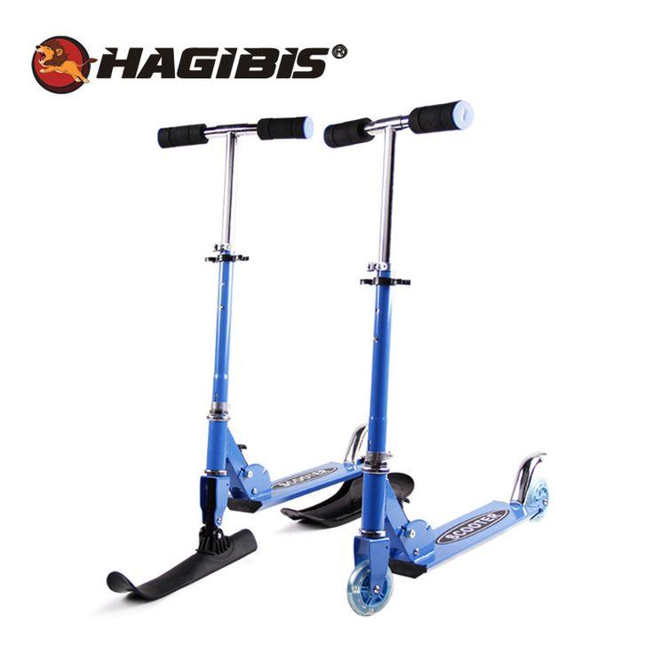2 In 1 HAGIBIS multifunctionele Slee Scooter Voor Kinderen Vouwen Schaatsen Board Sneeuw scooter kind slee luge XQ02