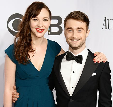 Erin Darke and Daniel Radcliffe at the Tony Awards on June 8, 2014
