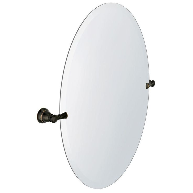 MOEN Banbury 22.95 in. x 26 in. Frameless Pivoting Single Wall Mirror in Mediterranean Bronze-Y2692BRB - The Home Depot