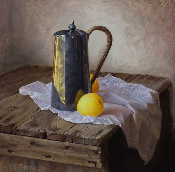 Golden Plums | Katherine Stone - Award Winning Oil Paintings - Kate Stone Art