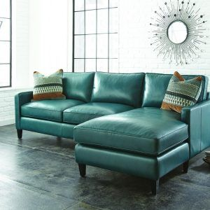 Teal Color Leather Sofa