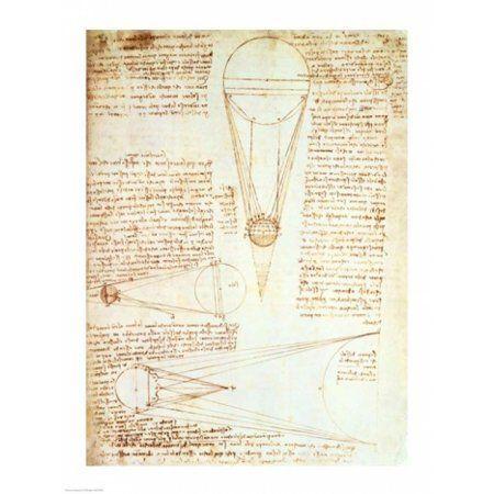 Studies of the Illumination of the Moon 1r from Codex Leicester Canvas Art - Leonardo Da Vinci (18 x 24)