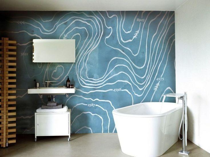 Les 25 meilleures id es concernant salle de bains papier for Papier pour salle de bain