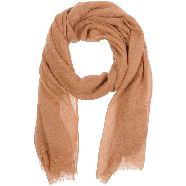 Aragona Scarf ($105) ❤ liked on Polyvore featuring accessories, scarves, brown, brown shawl, fringe scarves, fringe shawl, brown scarves and gauze scarves