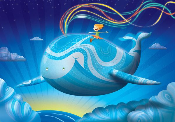 La ballena azul; por Oscar OspinaLA BALLENA AZUL - BLUE WHALE by OSCAR OSPINA, via Behance
