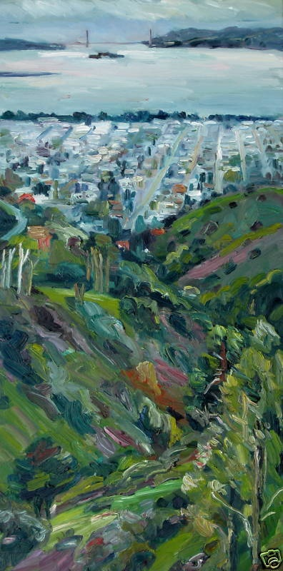 Grizzly Peak Road, John Kilduff [view from Grizzly Peak in Berkeley, California out to the Golden Gate]