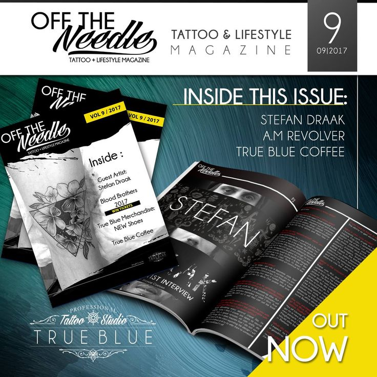 Check out the #OFFTHENEEDLE Vol.9 Online Magazine! Visit: http://bit.ly/2wNecov | @StefanDraak IS HERE! Read a little bit more about him!