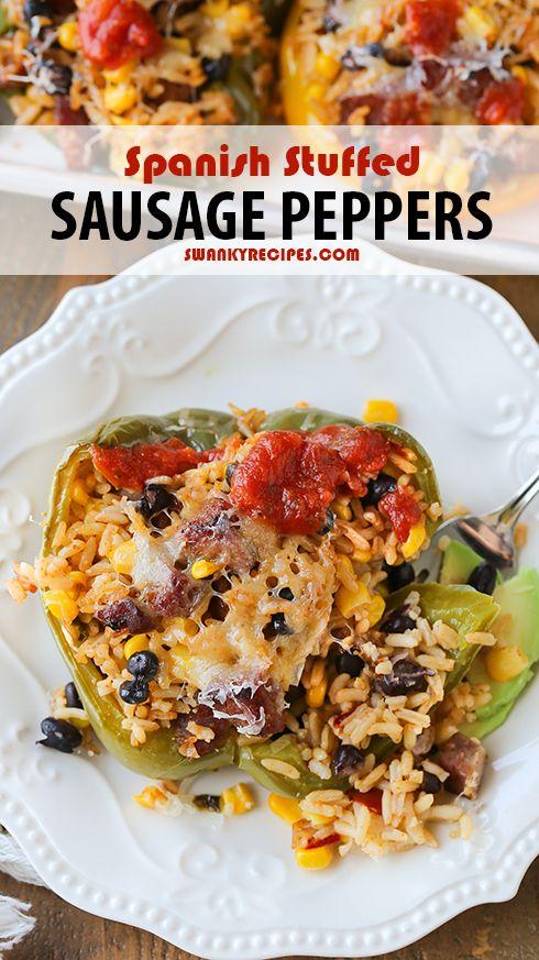 Spanish Stuffed Sausage Peppers