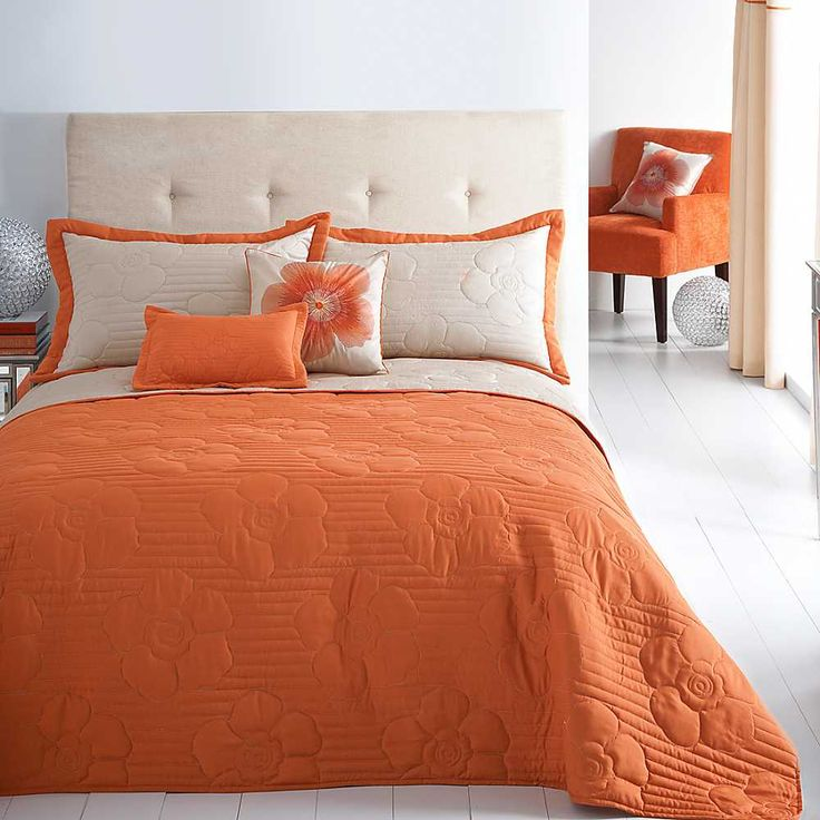 Capri Orange Bedspread