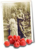 Historic Picture of Brother and Sister on Spooner Farms - Puyallup, WA