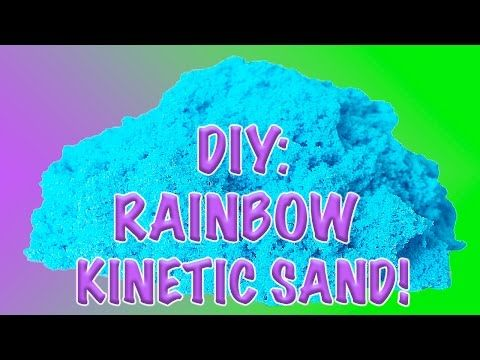 DIY: How to Make Homemade Glittery & Colorful Kinetic Sand! - YouTube