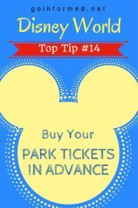 Disney World Top Tip #14: Buy Your Park Tickets in Advance
