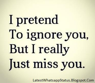 Feeling Ignore Quotes And Status
